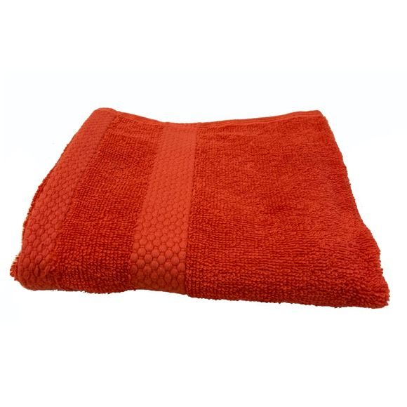 Asciugamano bidé in spugna di cotone 500gr, rosso 30x50cm