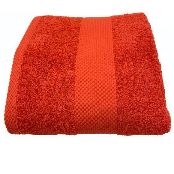 Asciugamano da doccia in spugna di cotone 500gr, rosso 70x130cm