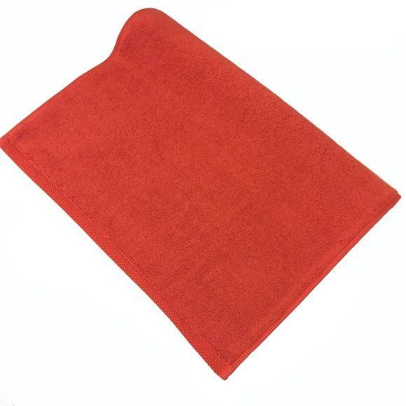 Tappeto da bagno rettangolare in spugna di cotone rosso 50x70