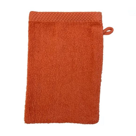 Achat en ligne Gant de toilette en coton éponge terracota