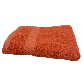 ZODIO - Serviette invité en coton éponge terracota 30X50cm