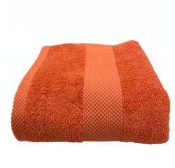 compra en línea Toalla de ducha felpa de algodón naranja (70 x 130 cm)