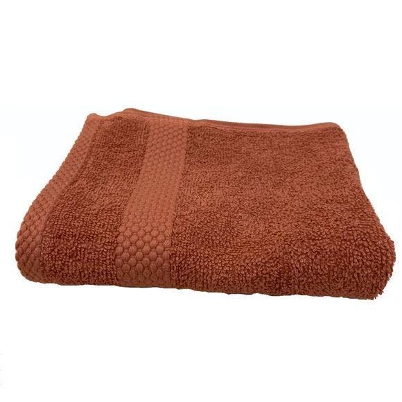 Serviette invité 30X50cm en coton éponge fané