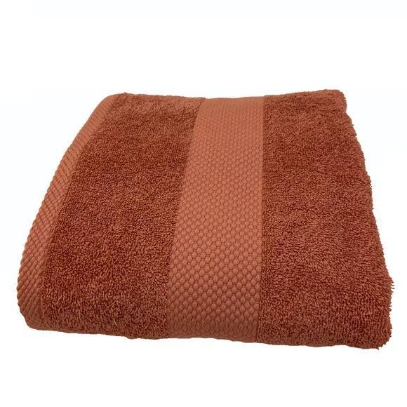 Asciugamano in spugna di cotone 500gr, rosa antico 70x130cm