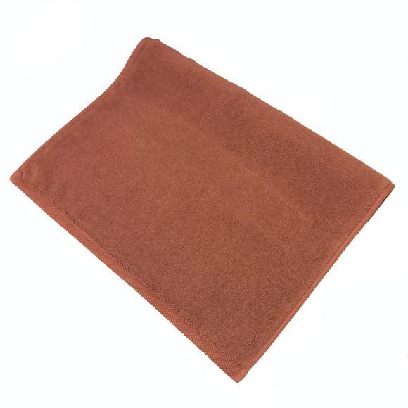 compra en línea Alfombra de baño en felpa de algodón marrón (50 x 70 cm)