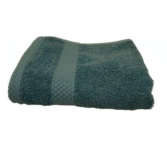 Serviette invité 30X50cm en coton éponge bleu postal