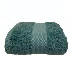 compra en línea Toalla de ducha felpa algodón verde grisáceo (70 x 130 cm)