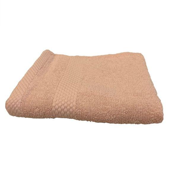 Asciugamano bidé in spugna di cotone 500gr, rosa cipria 30x50cm