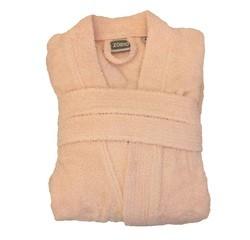 compra en línea Albornoz unisex talla M en felpa de algodón rosa palo