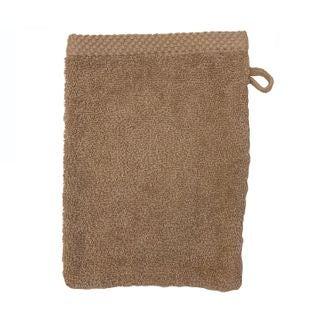 Gant de toilette en coton éponge tourterelle