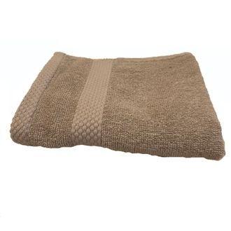 Serviette invité en coton éponge tourterelle  30x50cm