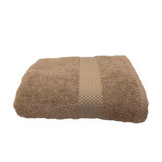 Serviette en coton éponge tourterelle  50x90cm