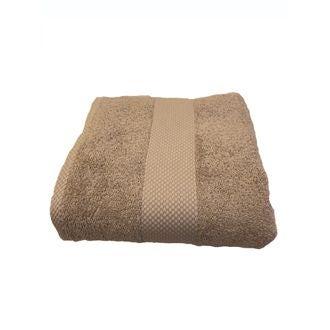 Serviette de bain en coton éponge tourterelle  90x140cm
