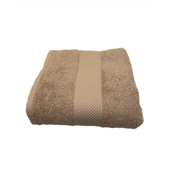 Asciugamano in spugna di cotone 500gr, tortora 90x140cm