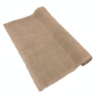 Tapis de bain en coton éponge tourterelle  50x70cm