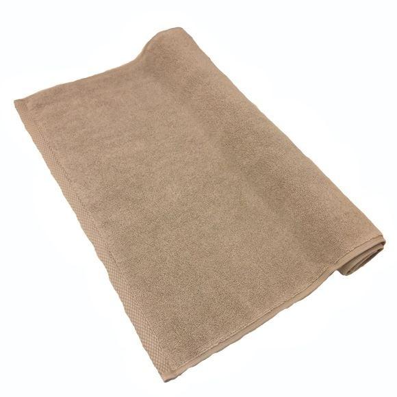 compra en línea Alfombra de baño en felpa de algodón blanco hueso (50 x 70 cm)
