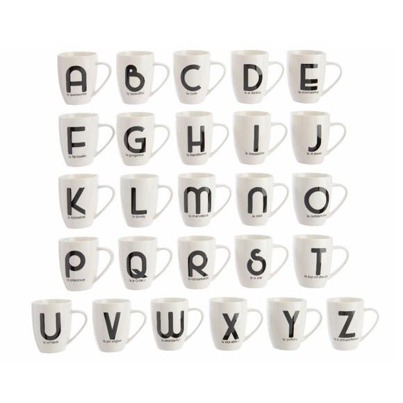 acquista online Tazza bianca con lettera