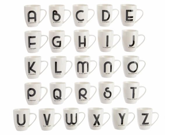 Achat en ligne Mug blanc avec lettre