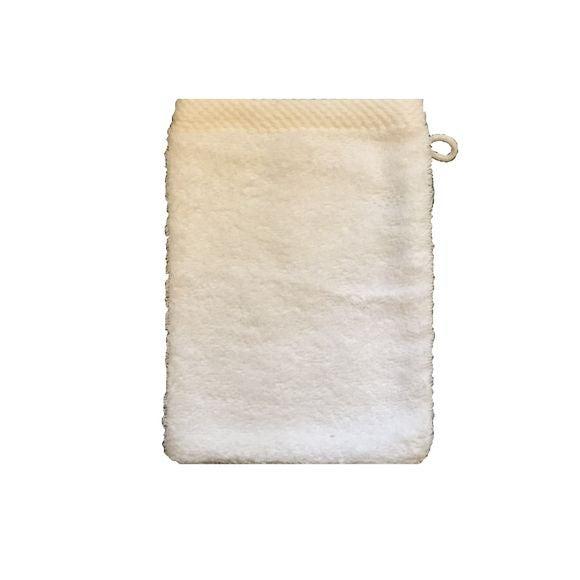 Guanto da bagno in cotone bianco