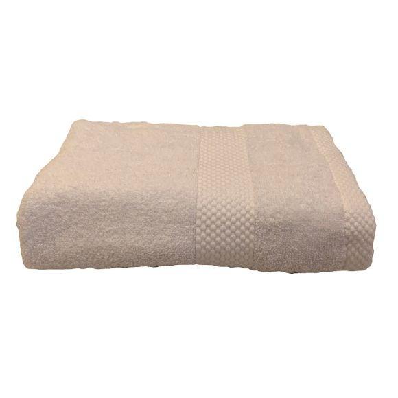 Serviette de toilette 50X90cm en coton éponge blanc
