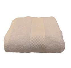 compra en línea Toalla de ducha de felpa algodón blanco (70 x 130 cm)