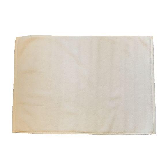Tappeto da bagno in spugna di cotone, bianco 50x70cm