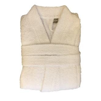 ZODIO - Peignoir en coton éponge blanc Taille S