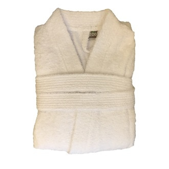 ZODIO - Peignoir en coton éponge blanc Taille L