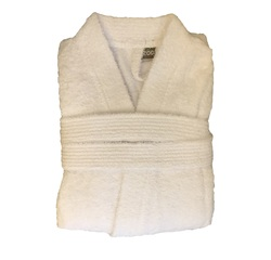 acquista online Accappatoio in spugna di cotone bianco taglia XL