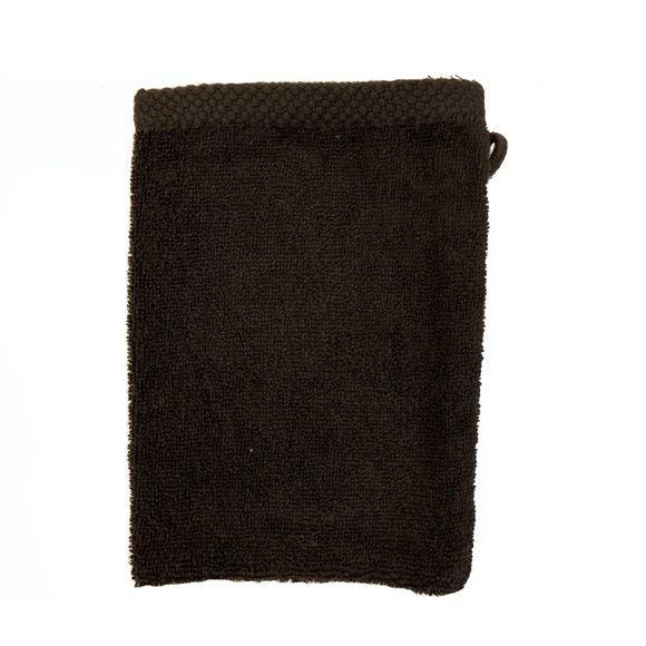 Guanto da bagno in cotone nero