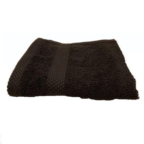 Serviette invité en coton éponge charbon 30X50cm
