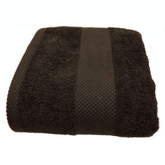 Serviette de douche en coton éponge charbon 70X130cm