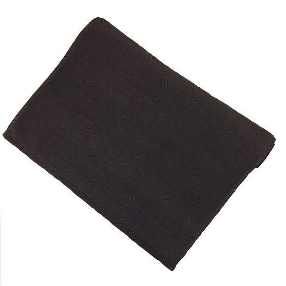 compra en línea Alfombra de baño de felpa algodón negra (50 x 70 cm)