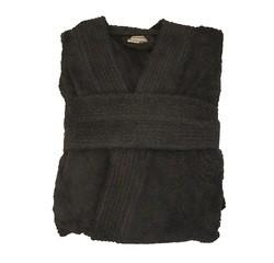 compra en línea Albornoz unisex talla M en felpa de algodón negro