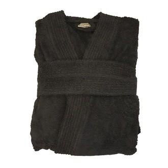 Peignoir en coton éponge charbon Taille L