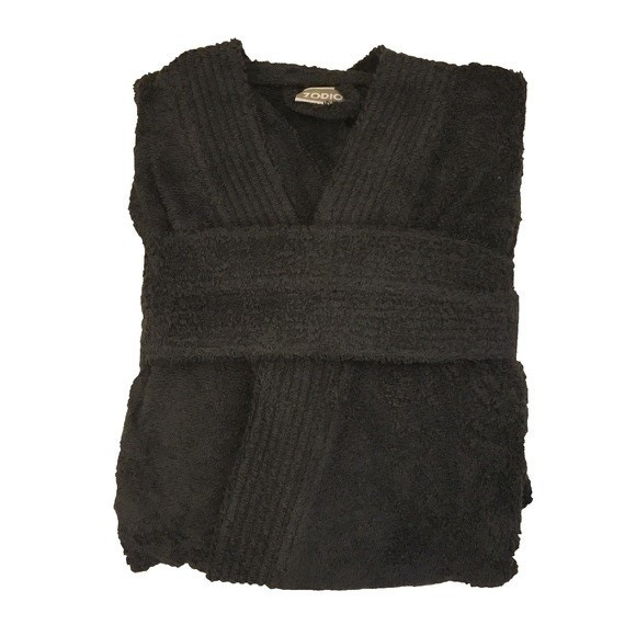 Achat en ligne Peignoir mixte taille L en coton éponge charbon