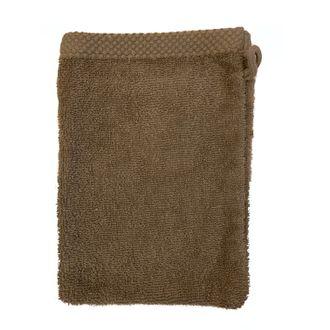 ZODIO - Gant de toilette en coton éponge glaise