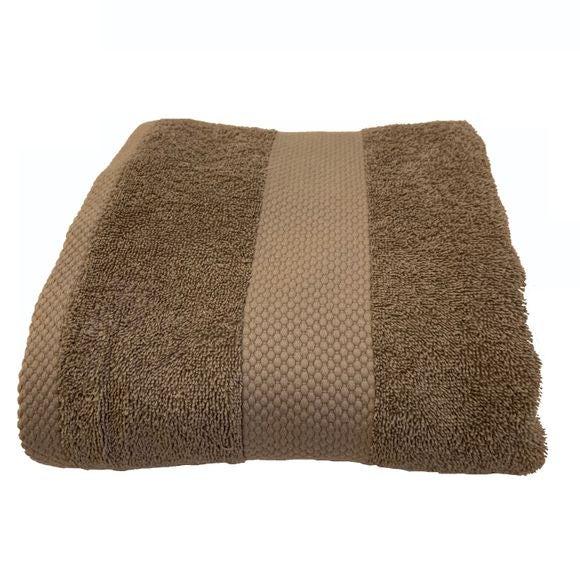 Asciugamano in spugna di cotone 500gr, grigio perla 70x130cm