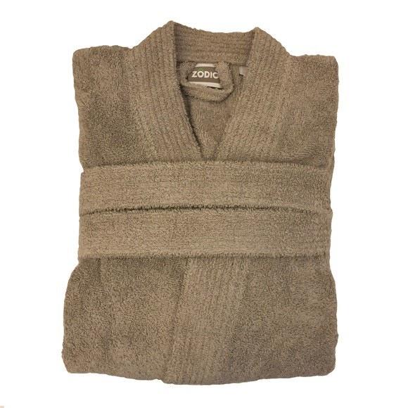 Peignoir mixte taille S en coton éponge glaise