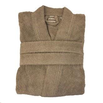 ZODIO - Peignoir en coton éponge glaise Taille L