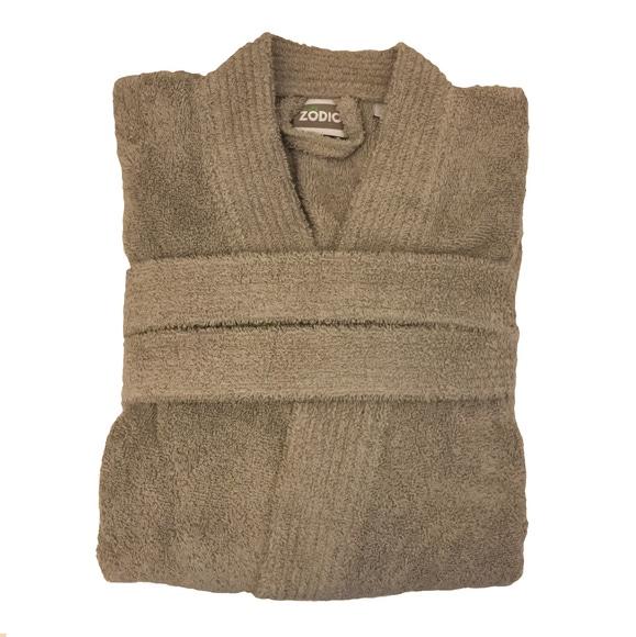 Achat en ligne Peignoir mixte taille L en coton éponge glaise