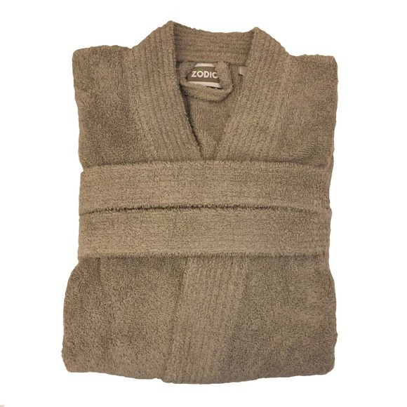 Achat en ligne Peignoir mixte taille XL en coton éponge glaise