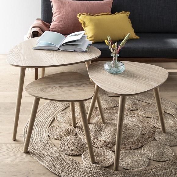 Achat en ligne Set de 3 tables bois Mileo