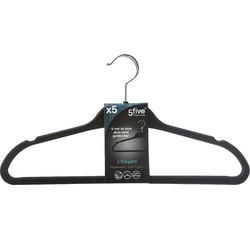 Achat en ligne Set de 5 cintres en caoutchouc noir