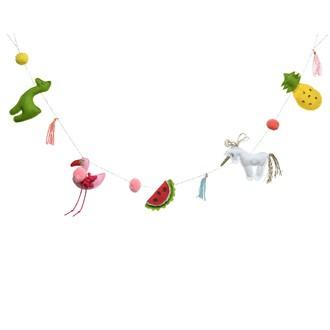Guirlande décorative tropicale en coton