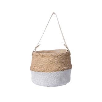 Cache pot avec hanse panier 14x14x10.5cm