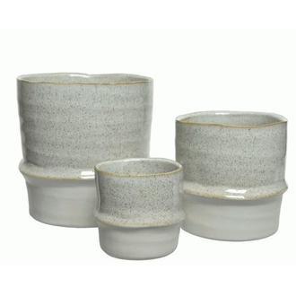 Set de 3 caches pot en céramique equilibre