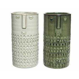 Vase en céramique exotique 10x19.5cm