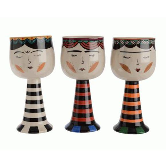 Cache pot en céramique Espeleta 8.5x10.5cm coloris assortis