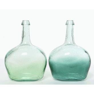 Vase dame jeanne en verre coloré 19x26cm - coloris assortis
